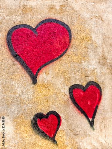 Canvas Print Graffiti Herz