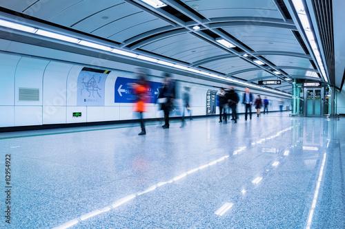 Fotografie, Obraz  futuristic subway passage