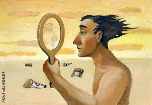 Fotografija  mirror surreal illustration