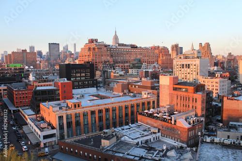 New York City / Chealsea panorama from Whitney museum Poster