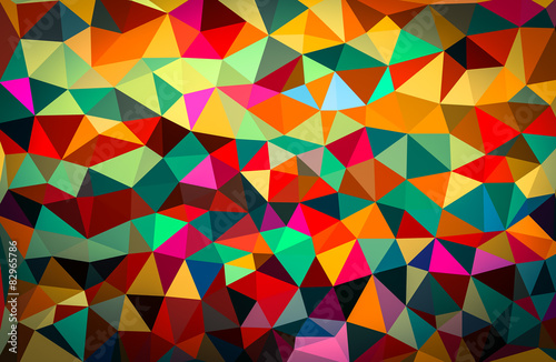 Fotografie, Obraz  colorful abstract geometric background with triangular polygons.