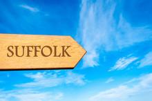 Wooden Arrow Sign Pointing Destination SUFFOLK, ENGLAND