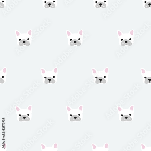 seamless french bulldog pattern
