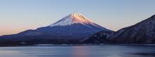 Mountain Fuji And Lake Motosu In Spring Season