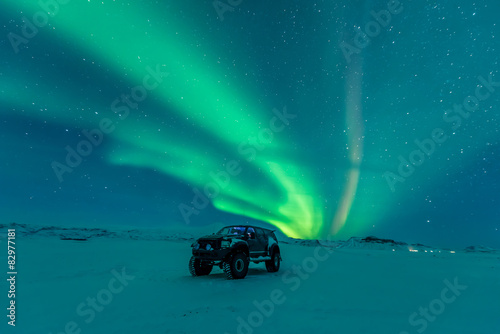 Photo sur Toile Aurore polaire Aurora borealis, northern lights