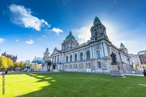 city hall of Belfast North Ireland Fotobehang