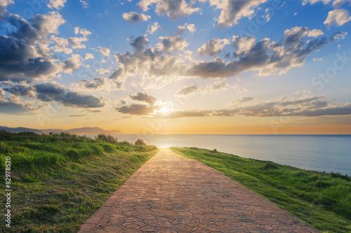 Obraz Path to the sea - fototapety do salonu