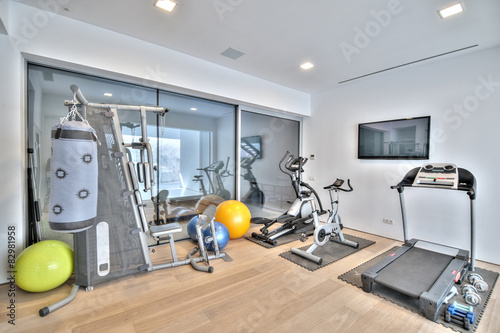 Photo sur Toile Fitness Gym in the modern villa
