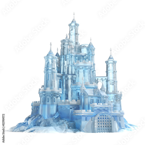 Stampa su Tela ice castle 3d illustration