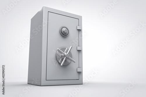 Fotografía  3D bank safe box isolated render