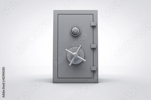 Fotografía  3D closed security box render