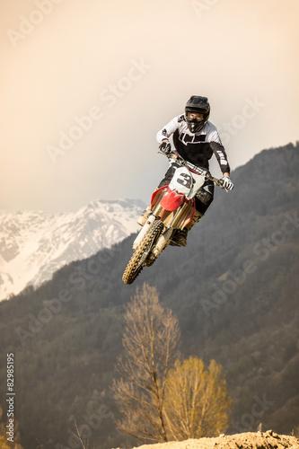 Fotomural  salto con moto da cross