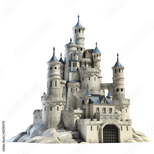 castle 3d illustration Fototapet