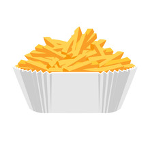 Fried Potatoes Icon. Flat Desi...