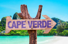 Cape Verde Wooden Sign With Be...