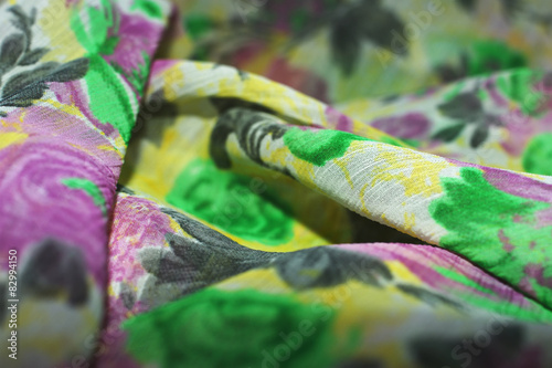 Fotografie, Obraz  chiffon with floral ornament, background