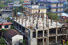 Nepalese People Working Constr...