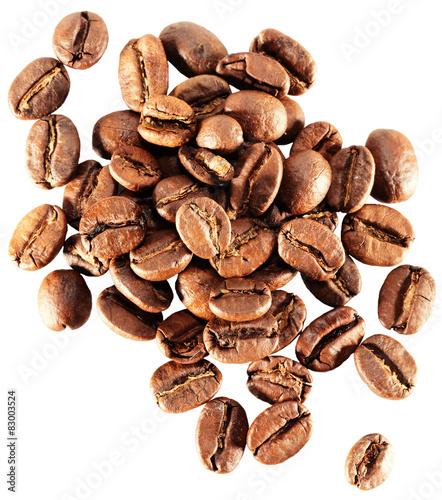 Papiers peints Café en grains coffee grains isolated on the white background