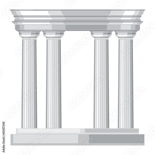 Fototapeta Doric realistic antique greek temple with columns obraz na płótnie