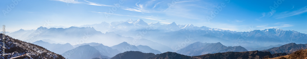 Fototapety, obrazy: Panorama view on top of cattle back mountain