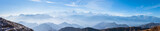 Panorama view on top of cattle back mountain