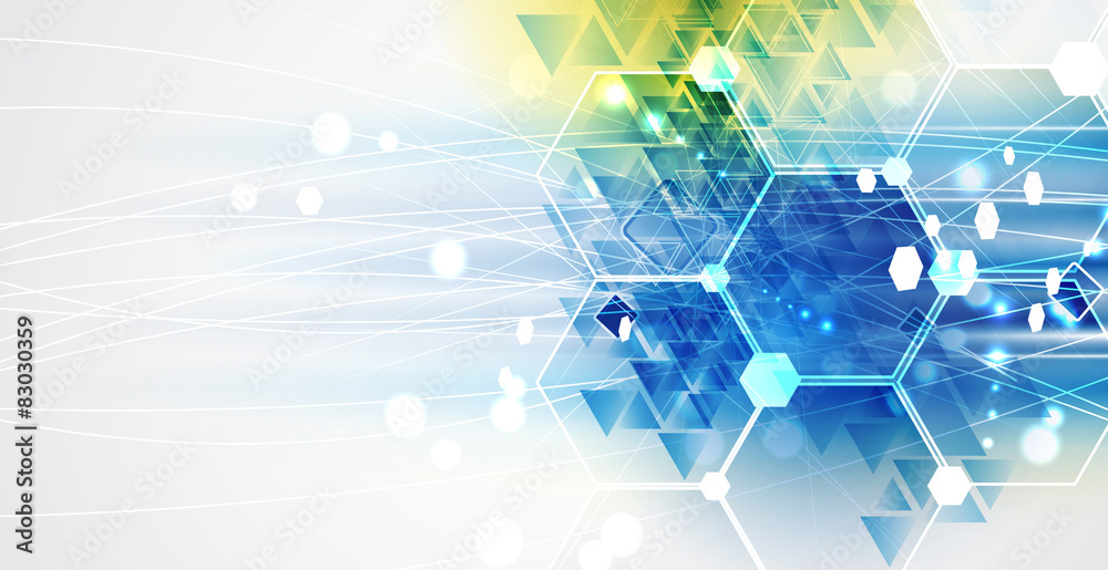 Fototapeta New future technology concept abstract background