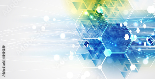 New future technology concept abstract background Fototapeta