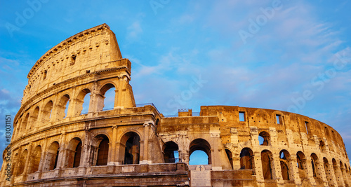 Stock Photo Coliseum Canvas Print