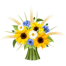 Bouquet Of Sunflowers, Daisies...