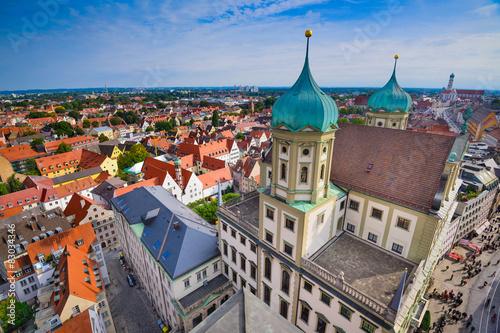 Zdjęcie XXL Augsburg, Niemcy stare miasto pejzaż.