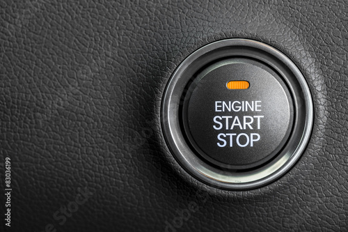 Fotografie, Obraz  Engine start button