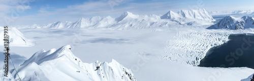 Photo  Arctic winter in south Spitsbergen