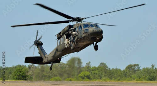 Foto op Canvas Helicopter Army Black Hawk Helicopter