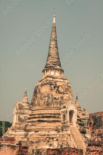 Spoed Foto op Canvas Bedehuis Wat Phrasisanpetch in the Ayutthaya Historical Park, Ayutthaya,