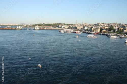 golden horn istanbul landscape Poster