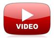 Leinwandbild Motiv video red glossy web icon