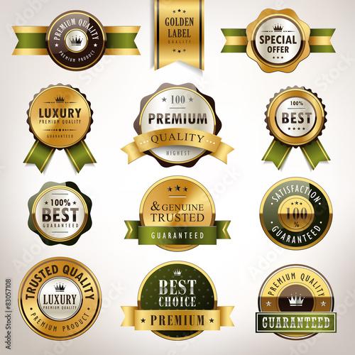 Photo  luxury premium quality golden labels collection