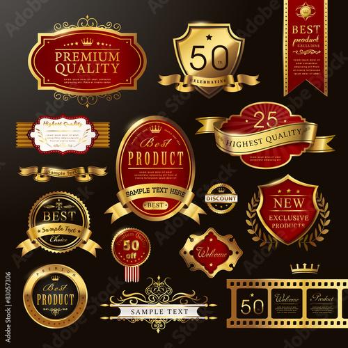 Photo  elegant premium quality golden labels collection