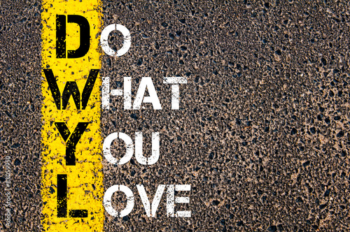 Do What You Love motivational quote.