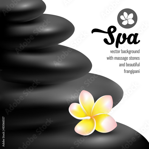 Spa massage stones #83066557