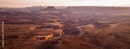 Sunset Soda Springs Basin Green River Canyonlands National Park Wallpaper Mural
