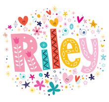 Riley Girls Name Decorative Le...