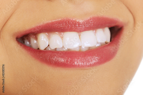 Woman's mouth with perfect smile. #83085176
