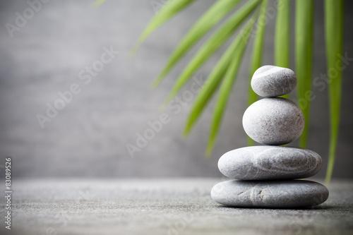 Foto op Canvas Zen Spa stones.