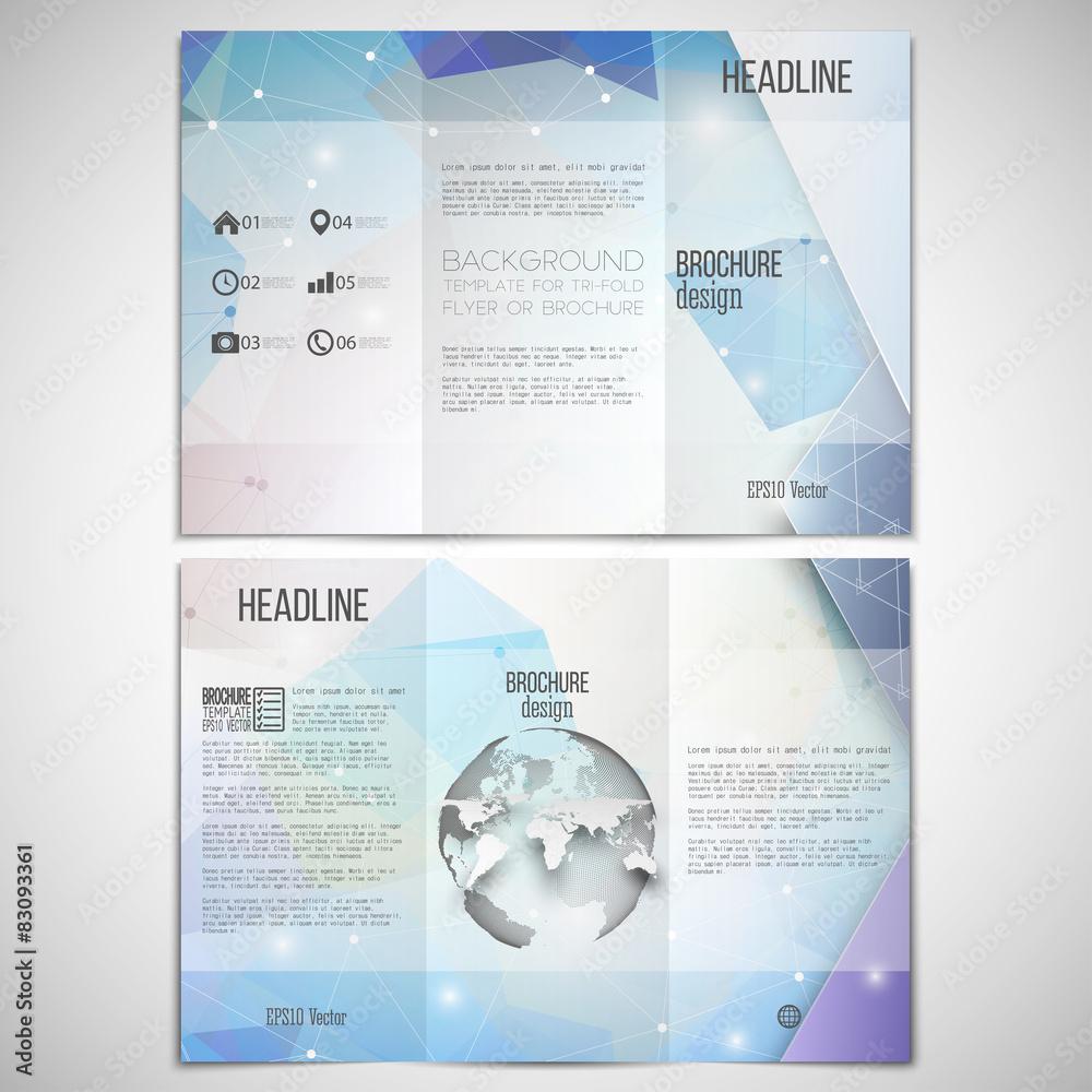 Photo & Art Print Vector set of tri-fold brochure design