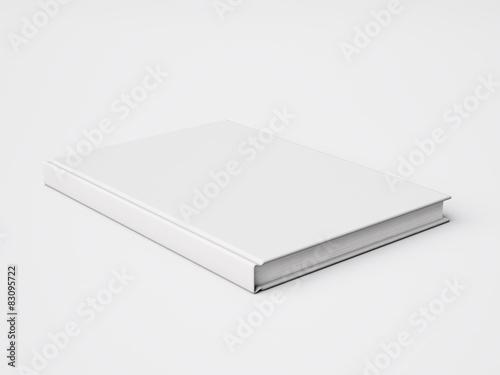 Fotografering  Blank white book. 3d rendering