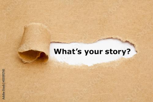Fotografie, Obraz  Jaký je váš příběh Torn Paper