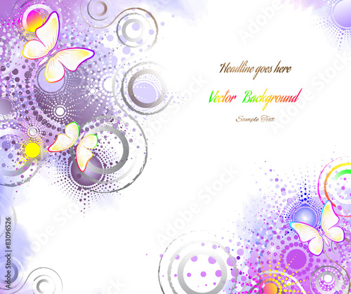 Keuken foto achterwand Vlinders in Grunge butterfly, abstract background