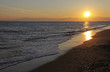 canvas print picture - Abendstimmung am Meer