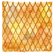 Dragon Skin Scales Pattern Texture Background Yellow Orange Gold
